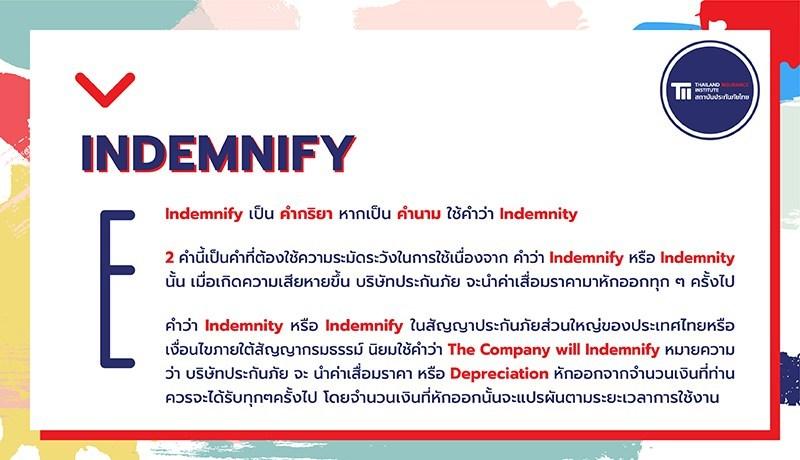 สถาบันประกันภัยไทยเปิดรายการใหม่ ภาษาอังกฤษเพื่อการประกันภัย 3